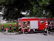 Feuerwehrübung in Immelstetten: 238 Kameraden im Großeinsatz