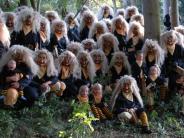 Fasching in Kammlach: Die Waldwesen aus dem geheimen Gang
