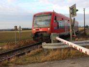 Regionalbahn Mindelheim - Günzburg: Die Bahnstrecke soll sicherer werden