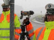Blitzmarathon: Es hat geschneit, aber nicht geblitzt