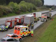Autobahn: Vier Verletztebei Unfall auf A96 zwischen Bad Wörishofen und Buchloe