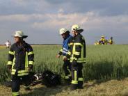Motorradunfall bei Spöck: 25-Jährigerbei Sturz schwer verletzt