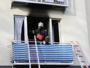 Großeinsatz in Mindelheim: Wohnung brennt