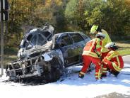 Polizei: Auto brennt bei Kirchdorf aus