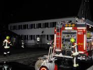 Feuer: Brand im Asylbewerberheim in Siebnach