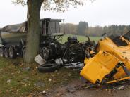 Hasberg/Kirchheim: 47-Jähriger bei Lkw-Unfall schwer verletzt