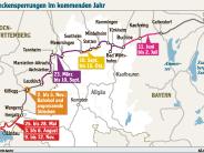Bahnausbau in der Region: 3200 Bahnfahrer müssen in Busse umsteigen
