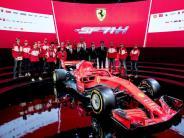 Präsentation in Maranello: Rote Göttin für den Titelkampf: Vettel will schon losfahren