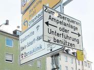 Neu-Ulm: Gänstorbrücke: Es geht drunter und nicht drüber