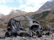 Allgäuer Alpen: Ausgebranntes Auto in den Alpen: Besitzer soll in Psychiatrie