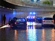 Region Augsburg: Überschwemmung, Unfälle, Feuer: Wo das Gewitter Schäden anrichtete