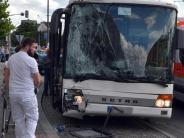 Ulm: Busunfall am Hauptbahnhof: Elf Fahrgäste verletzt
