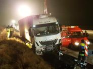 Elchingen: Lastwagenfahrer drängt anderen von A8 ab