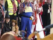 Fasching: Mit dem Bagger zum Rathausschlüssel