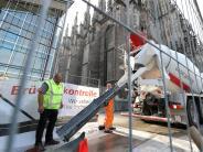 Ulm: Betontage auf dem Münsterplatz
