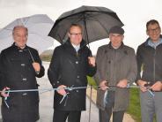 Roggenburg/Weißenhorn: Neuer Radweg: Eröffnungsfeier bei Sturm und Regen