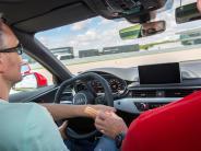 Aktion: Blindfahrt mit dem Audi