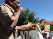 Donau-Auen: Draußen Pöbelrunde, drinnen Fragestunde