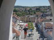 Pfaffenhofen: Slackliner schaffen Weltrekord in 40 Metern Höhe