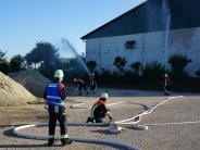 Ehekirchen: Wenn die Lagerhalle lichterloh brennt ...
