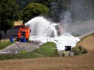 Schrobenhausen: Fahrer des brennenden Tanklasters wird angezeigt