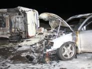 Polizei: Auto brennt an der Zeller Kreuzung komplett aus