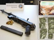 Kreis Neuburg-Schrobenhausen: Polizei fasst Drogendealer - und findet auch eine Waffe