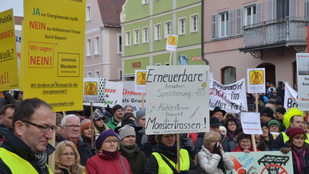 Stromtrasse: Proteste wie in Oettingen bereiten der CSU Sorgen - Augsburger Allgemeine