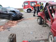 Donau-Ries: 81-jährige Frau stirbt nach Verkehrsunfall auf der B 466