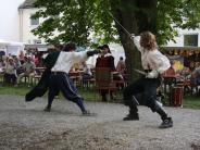 Spektakel: Fecht-Shows in Nördlingen