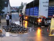 : 450 Kisten Bier landen auf der Straße