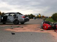 Kreis Donau-Ries: Motorradfahrer wird in Nördlingen schwer verletzt