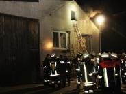 Marktoffingen: Scheune gerät in Brand: Ursache wohl ein Feuerwerkskörper