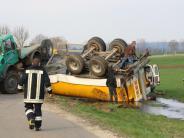 Kreis Donau-Ries: 16.000 Liter Gülle fließen nach Unfall in Straßengraben