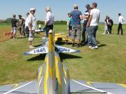 Jet-Treffen Nördlingen: Modell-Flieger heben über dem Ries ab