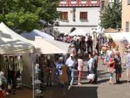 Handwerk: Kunsthandwerkermarkt: Trotz Hitze überraschend gut besucht