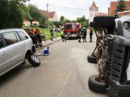 Fremdingen: Parkendes Auto übersehen: 13.000 Euro Schaden