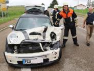 Minderoffingen: Unfall mit 15000 Euro Schaden auf der B25