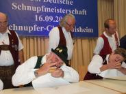 Tradition: Schnupfmeisterschaften: Jedes tausendstel Gramm zählt