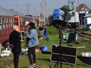Schauspiel: Filmset Eisenbahnwaggon