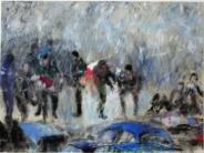 Kunst: Eine Szene im unbestimmten Raum