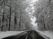 Wetter: Stress auf den winterlichen Straßen im Ries