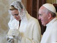 Kirche: Papst empfängt Monacos Fürstenpaar zu Privataudienz