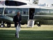 Wetter: Obama im überfluteten Louisiana:«Ihr seid nicht allein»
