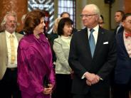 Empfang im Roten Rathaus: Schwedisches Königspaar zu Besuch inBerlin