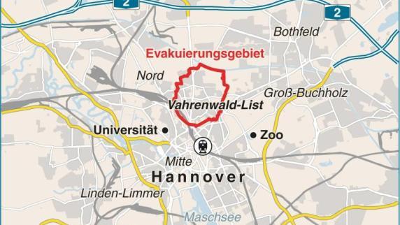 Komplikationen bei Bombenentschärfung in Hannover