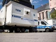 Container als Übergangslösung: Betrunkener überschwemmt Polizeiwache mit Sprinkleranlage