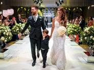Hochzeit im City Center: Große Fiesta in Rosario:Lionel Messi hat geheiratet