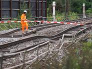 Gleise gefährlich abgesenkt: Bahn-Sperrung bei Rastatt dauert bis zu zwei Wochen