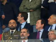 Royale Unterstützung: König als Atlético-Fan: Felipe bei Stadion-Einweihung